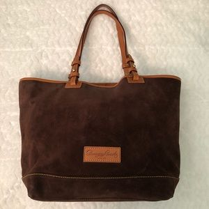 Dooney & Bourke Brown Leather & Suede Tote Bag